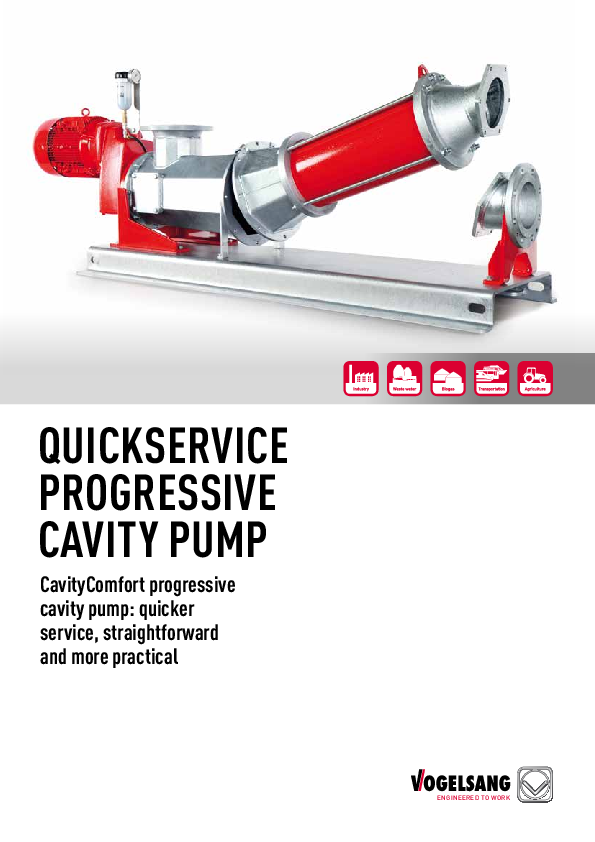 Progressive cavity pumps of the CC series by Vogelsang