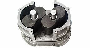 1970 – Invention of the elastomer-coated rotary lobe pump