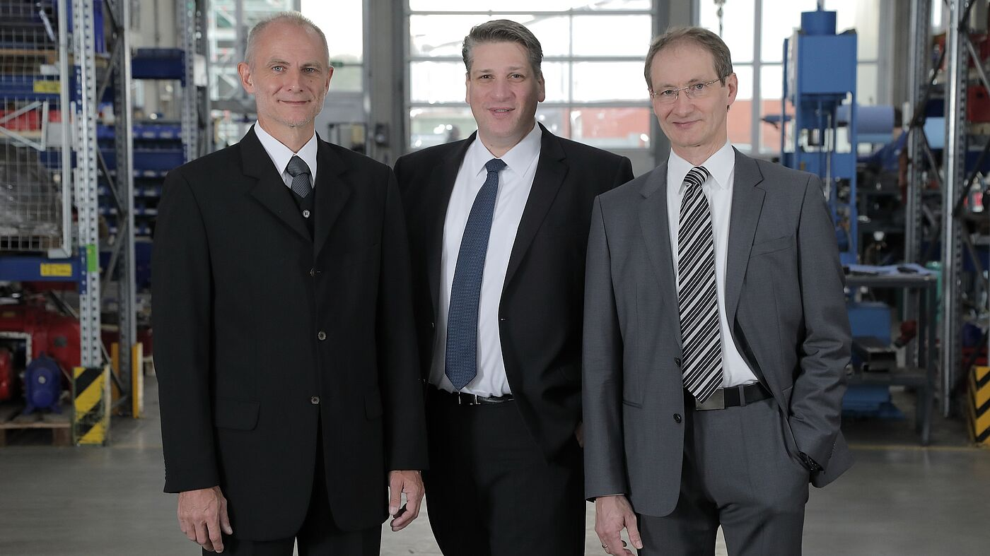 Vogelsang management board: Hugo Vogelsang, David Guidez, Harald Vogelsang