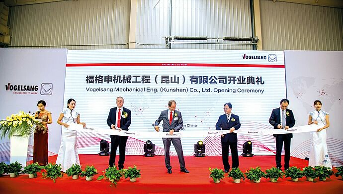Opening Ceremony of Vogelsang Mechanical Eng. (Kunshan) Co. Ltd. in 2017