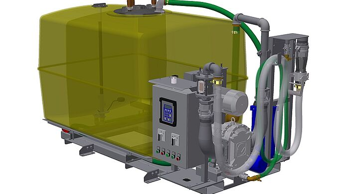 MobileUnit Basic by Vogelsang - Disposal pump and tank assembly on common skid