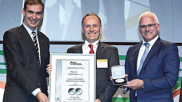The progressive cavity pump by Vogelsang (CC series) won silver the silver medal of Innovation Award 2014