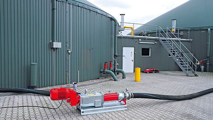 Biogas - The service star. The progressive cavity pumps of the CC series from Vogelsang. Easier, quicker, more efficient