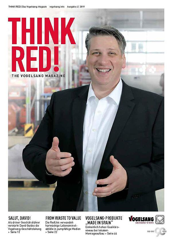 THINK RED - the company magazine of Vogelsang