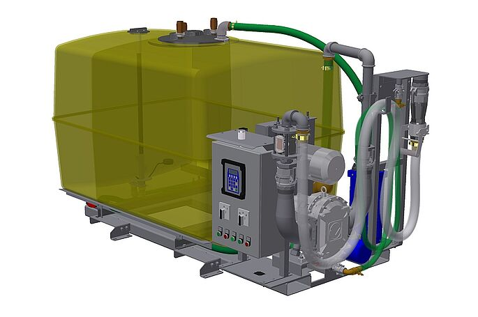 MobileUnit M by Vogelsang - Disposal pump and tank assembly on common skid