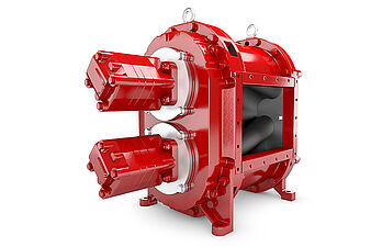 The gearless rotary lobe pump of the GL series by Vogelsang